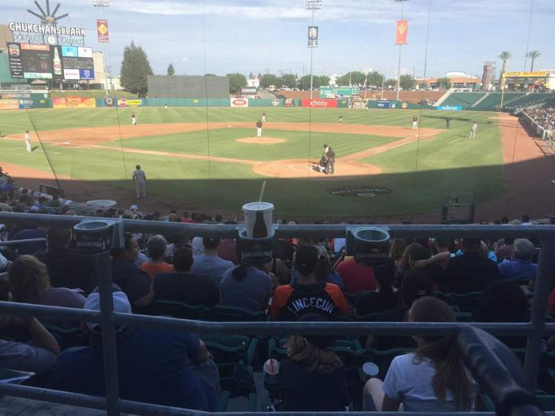 Seating view for Chukchansi Park Section 113 Row 18 Seat 8