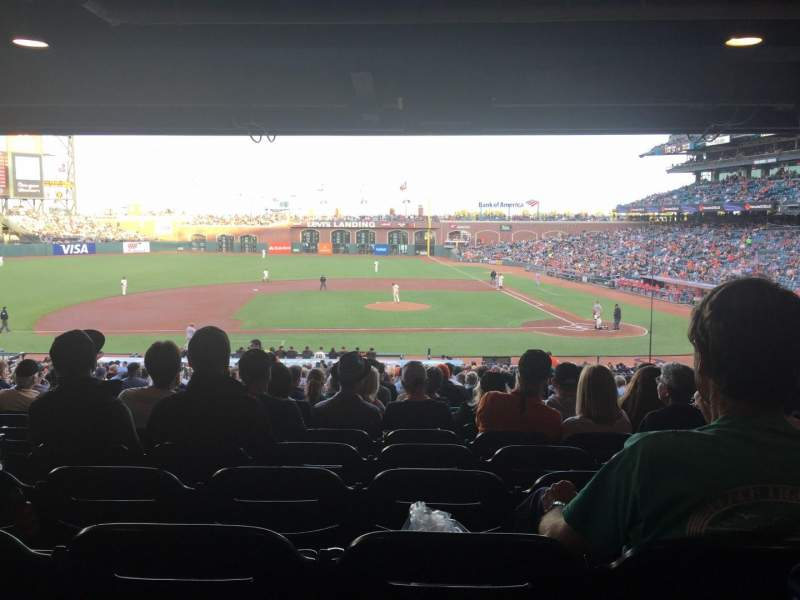 Seating view for Oracle Park Section 122 Row 40 Seat 15
