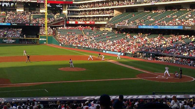 Seating view for Progressive Field Section 262 Row c Seat 11