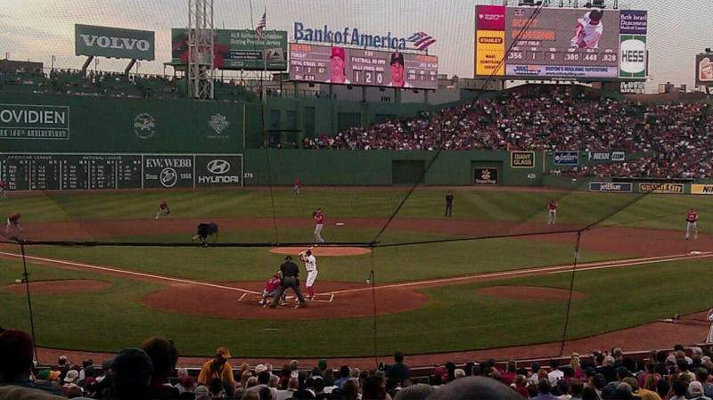 Seating view for Fenway Park Section Loge Box 130 Row MM Seat 11