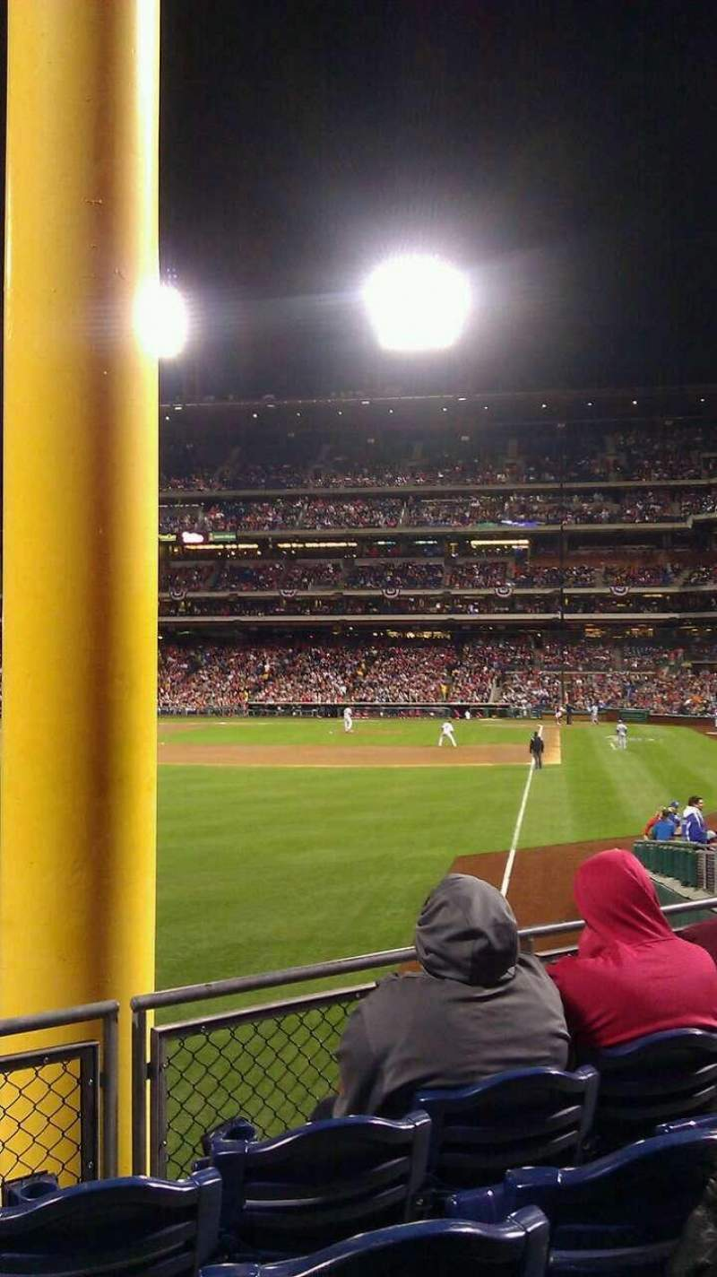 Seating view for Citizens Bank Park Section 140 Row 10 Seat 13
