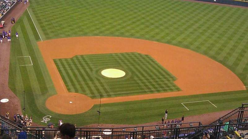 Seating view for Coors Field Section U327 Row 20 Seat 15
