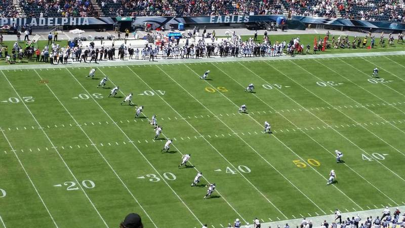 Seating view for Lincoln Financial Field Section 221 Row 20 Seat 1