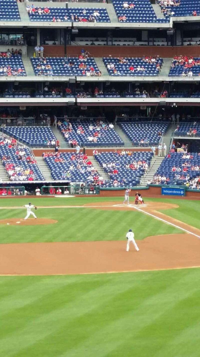 Seating view for Citizens Bank Park Section 243 Row 2 Seat 1