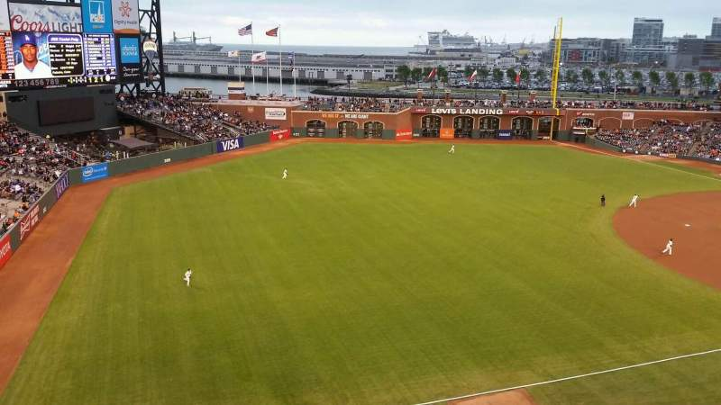 Seating view for AT&T Park Section VB330 Row A Seat 15