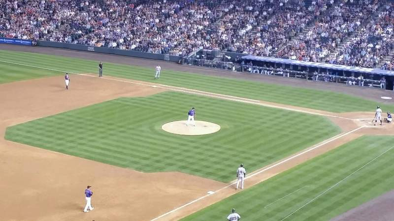 Seating view for Coors Field Section L345 Row 1 Seat 4