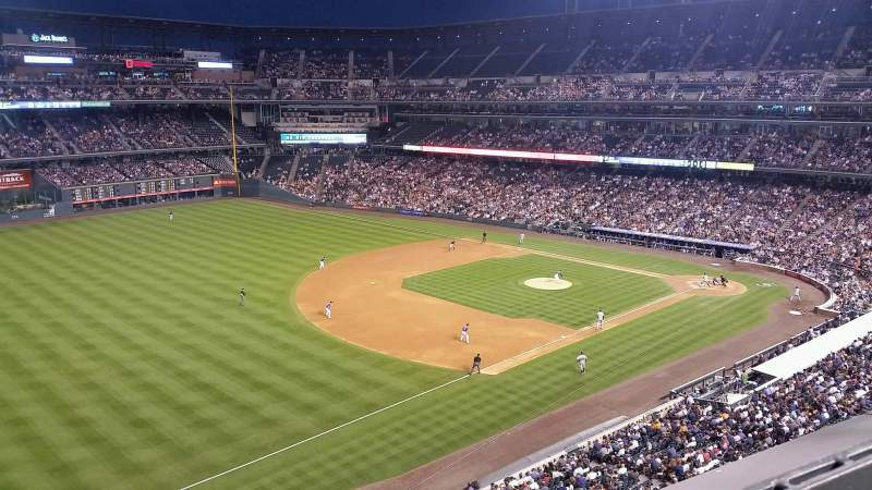 Seating view for Coors Field Section L345 Row 1 Seat 5
