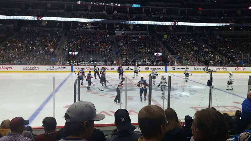 Seating view for Pepsi Center Section 126 Row 9 Seat 8