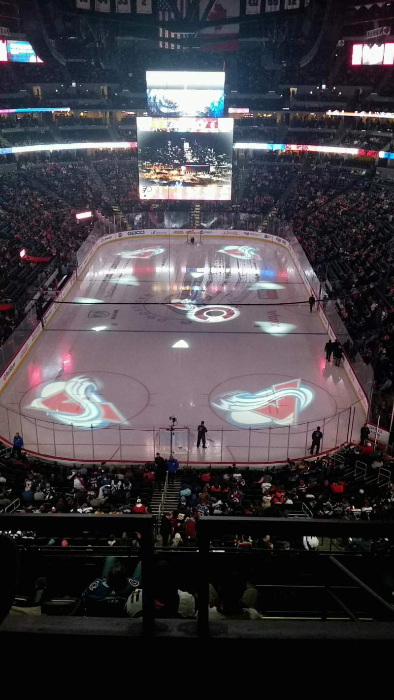 Seating view for Pepsi Center Section 362 Row 2 Seat 8