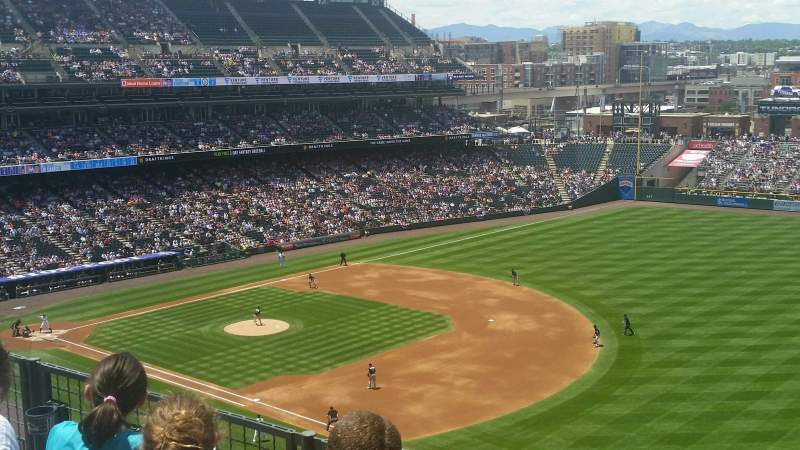 Seating view for Coors Field Section L317 Row 3 Seat 8