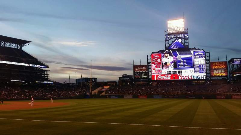 Seating view for Coors Field Section 117 Row 4 Seat 11