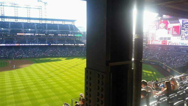 Seating view for Coors Field Section 206 Row 14 Seat 16