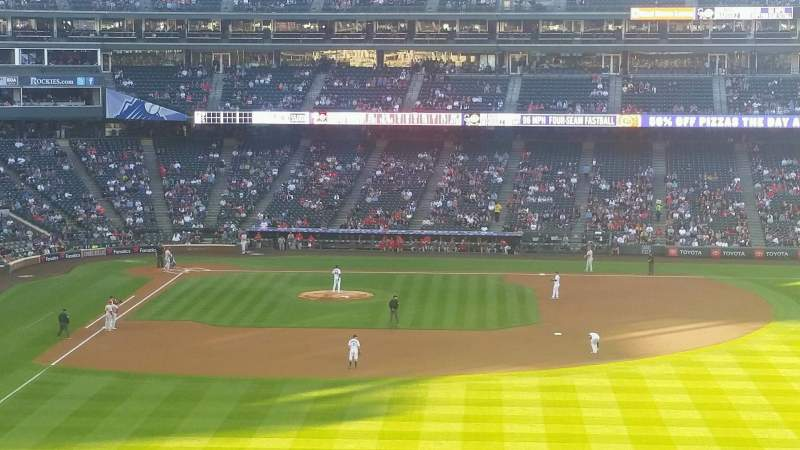 Seating view for Coors Field Section 206 Row 14 Seat 17