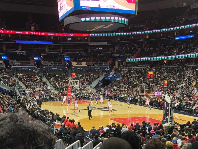 Seating view for Capital One Arena Section 104 Row N Seat 5