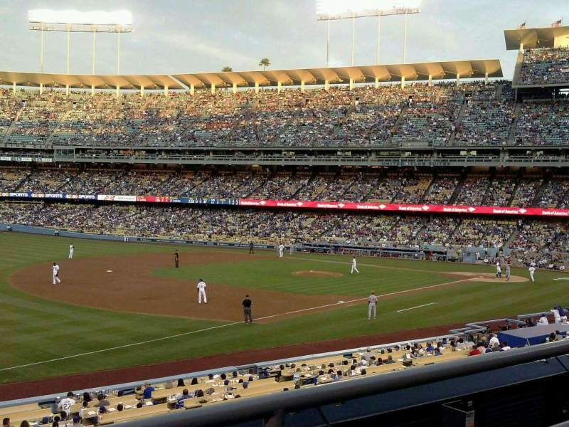 Seating view for Dodger Stadium Section 151LG Row B Seat 2