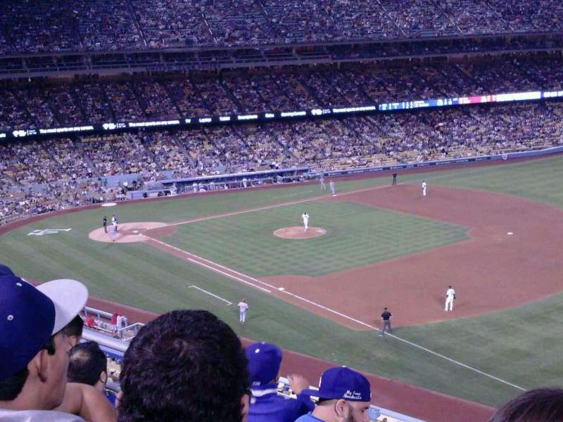 Seating view for Dodger Stadium Section 36RS Row D Seat 14