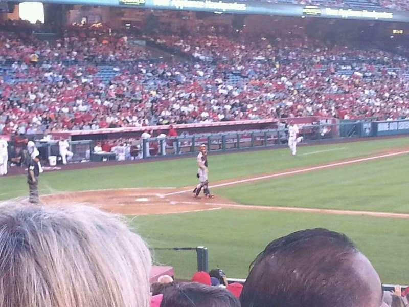 Seating view for Angel Stadium Section F124 Row T Seat 15