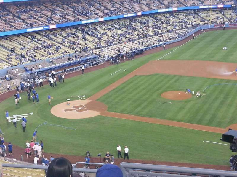 Seating view for Dodger Stadium Section 20RS Row F Seat 7