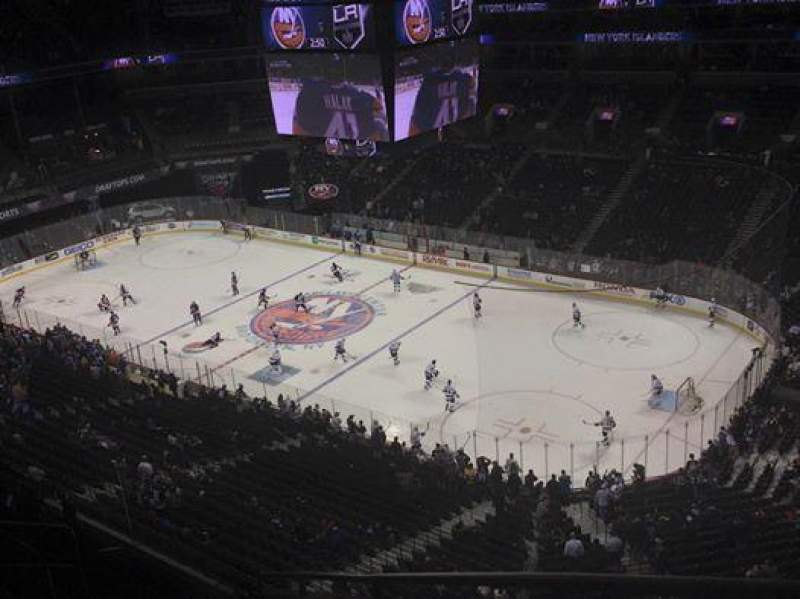 Seating view for Barclays Center Section 221 Row 8 Seat 1
