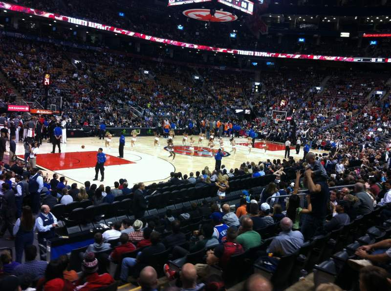 Seating view for Air Canada Centre Section 121 Row 14 Seat 3