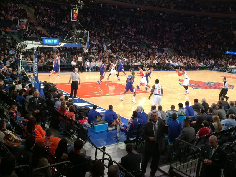 Seating view for Madison Square Garden Section 105 Row 1 Seat 12
