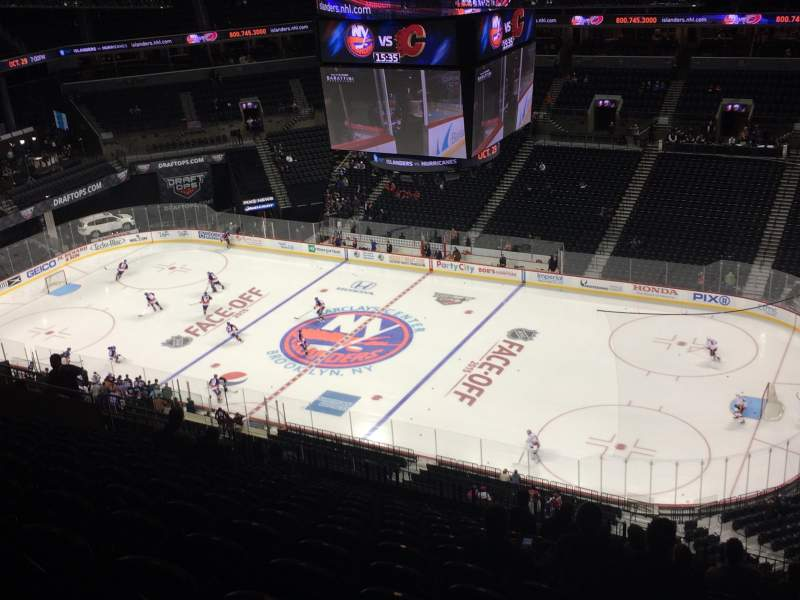Seating view for Barclays Center Section 222 Row 16 Seat 2