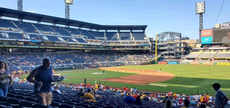 Seating view for PNC Park Section 107 Row Z Seat 3
