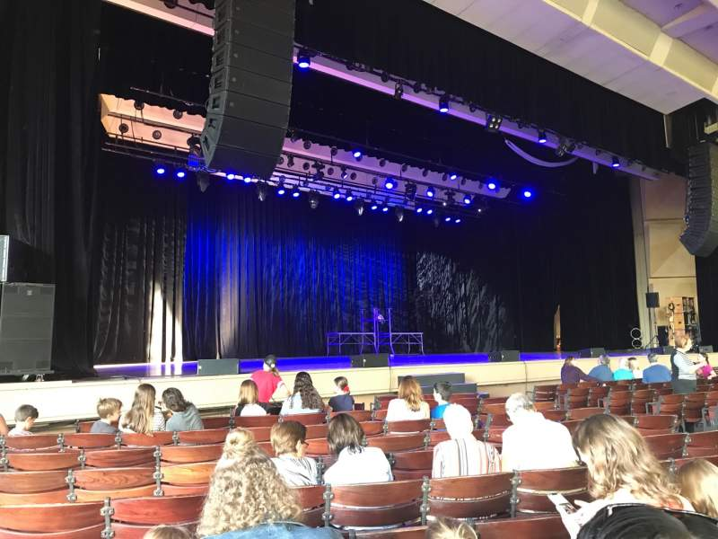 Seating view for The Pavilion at the Ravinia Festival Section Left Row M Seat 11
