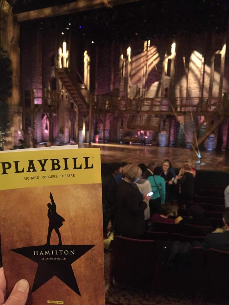 Seating view for Richard Rodgers Theatre Section Orchestra side Row M Seat 8