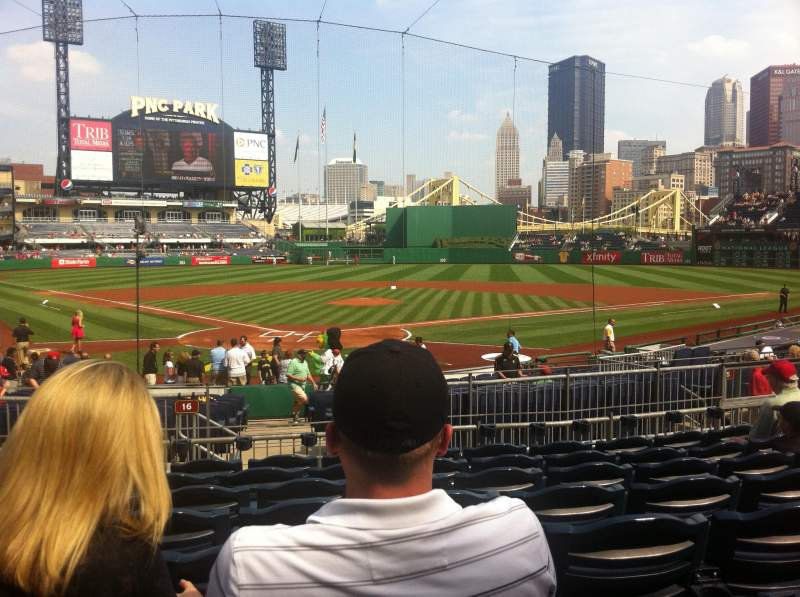 Seating view for PNC Park Section 115 Row H Seat 12