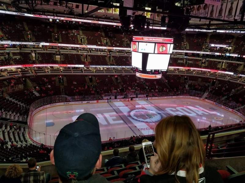 Seating view for United Center Section 320 Row 7 Seat 5-6