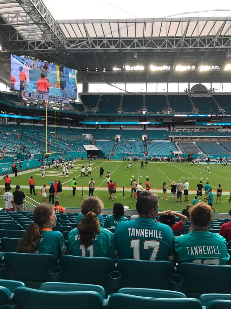 Seating view for Hard Rock Stadium Section 121 Row 14 Seat 11