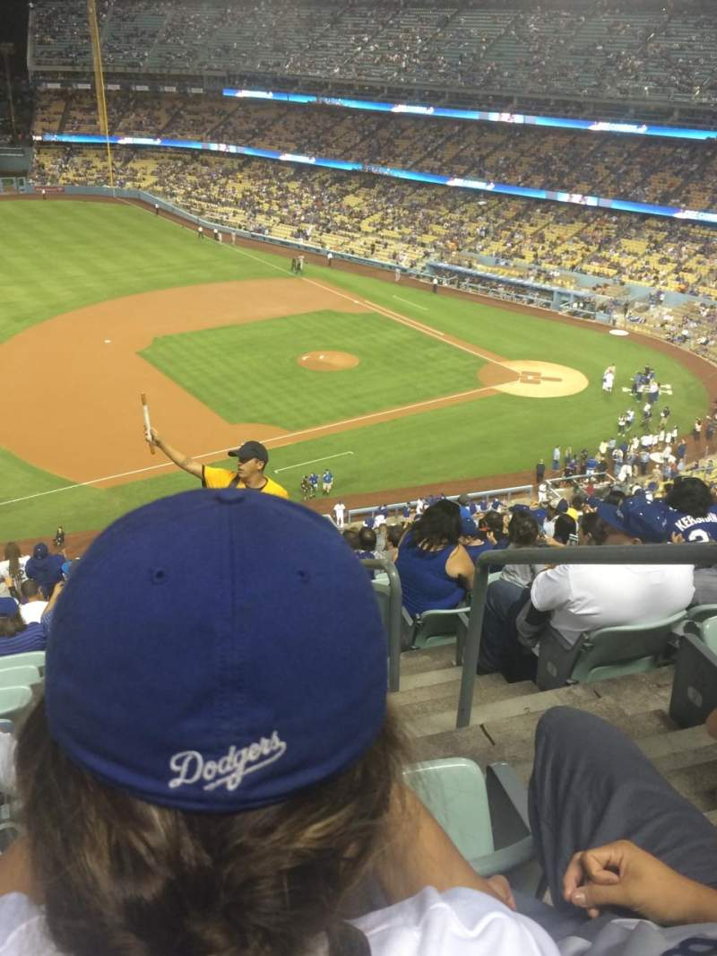 Seating view for Dodger Stadium Section 27RS Row U Seat 1