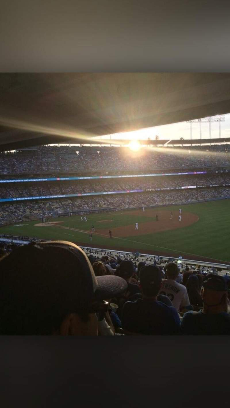 Seating view for Dodger Stadium Section 158LG Row T Seat 9