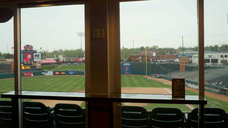 Seating view for Jackson Field Section Skybox Level