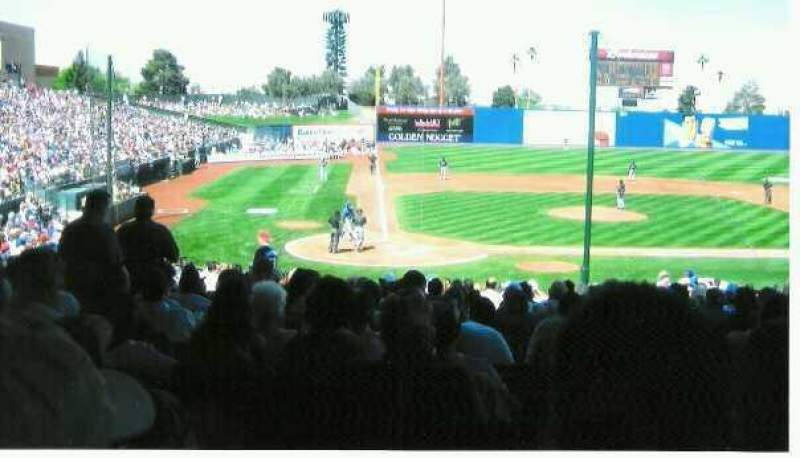 Seating view for Cashman Field Section 15 Row 12