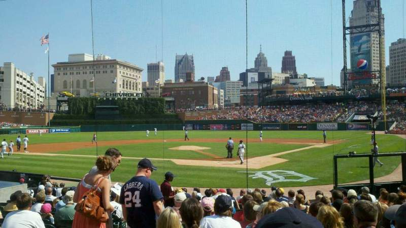 Seating view for Comerica Park Section 129 Row 19