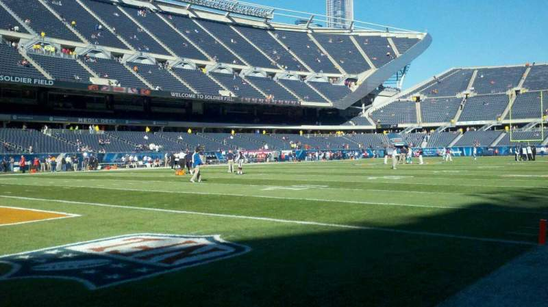 Seating view for Soldier Field Section field, se corner