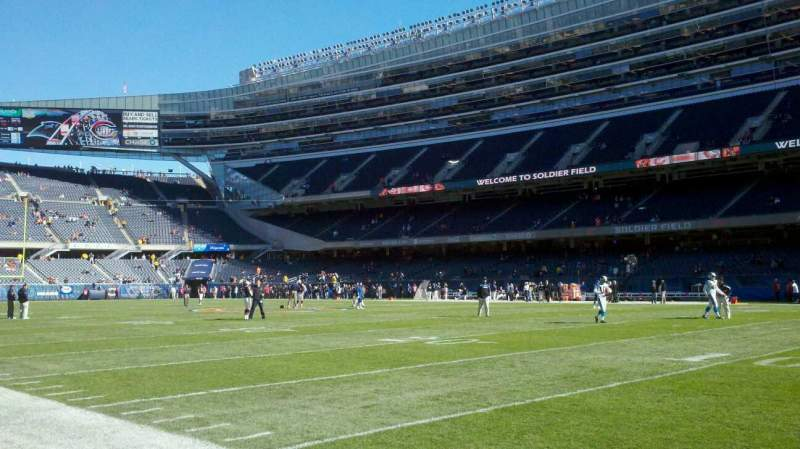 Seating view for Soldier Field Section field, west sideline