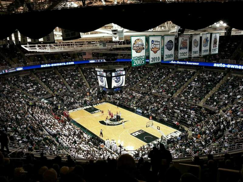 Seating view for Breslin Center Section 204 Row 14 Seat 1