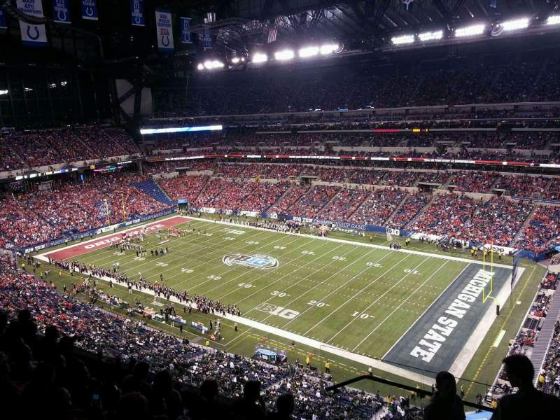 Seating view for Lucas Oil Stadium Section 635 Row 6 Seat 1