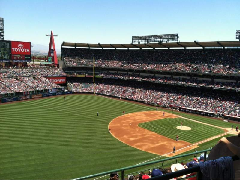 Seating view for Angel Stadium Section V509 Row B Seat 6