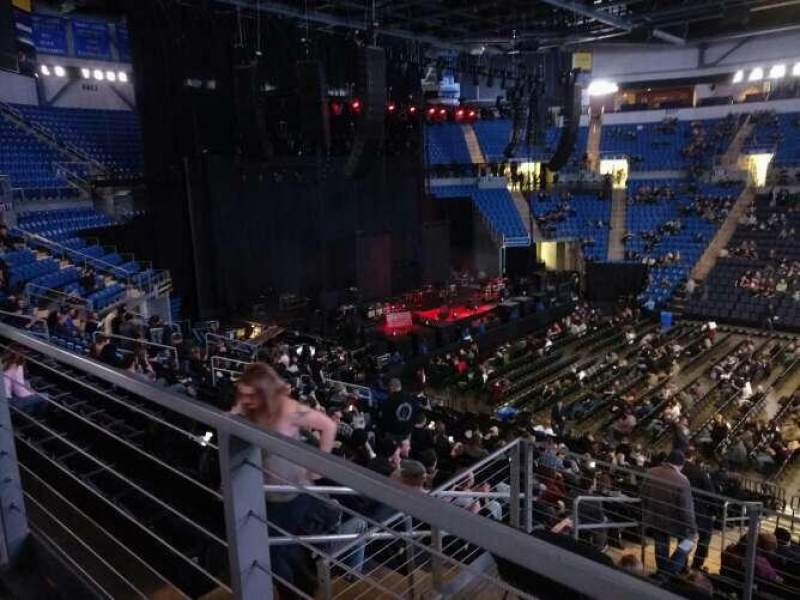 Seating view for Chaifetz Arena Section 214 Row A Seat 9