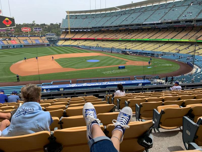Seating view for Dodger Stadium Section 135LG Row K Seat 1