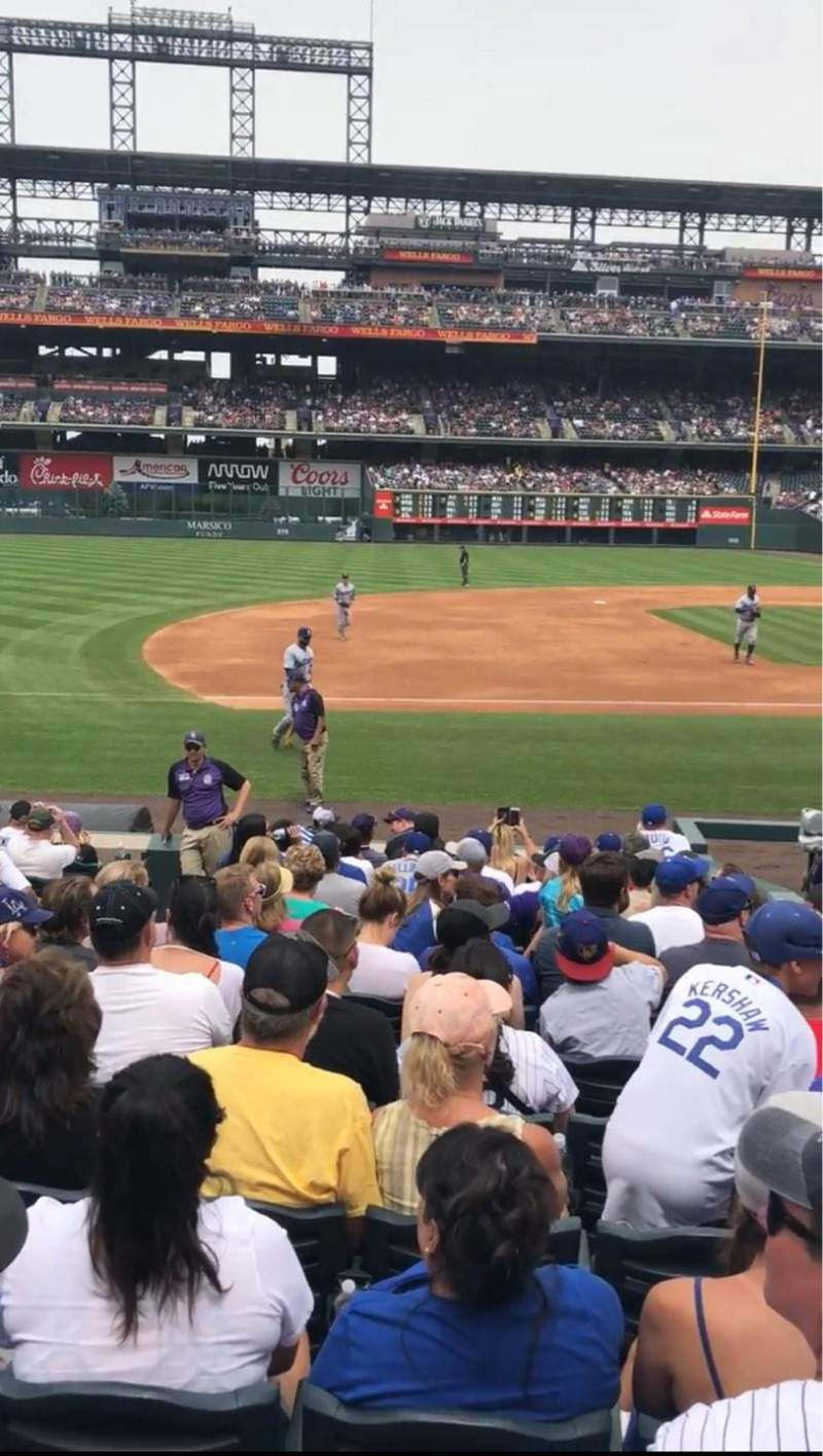Seating view for Coors Field Section 140 Row 14 Seat 8