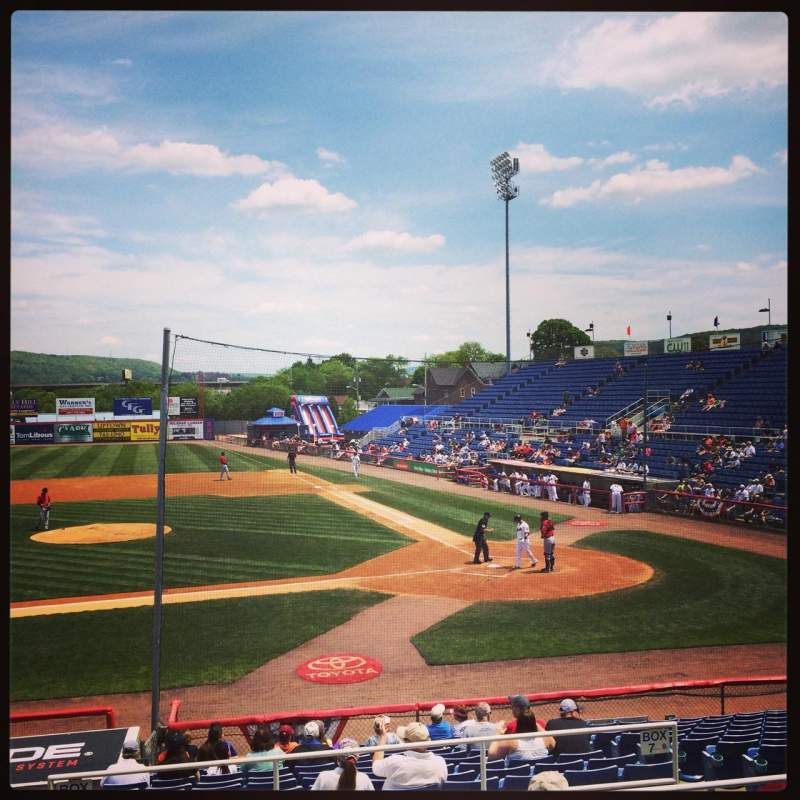 Seating view for NYSEG Stadium Section 105 Row R Seat 22