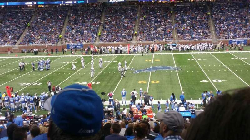 Seating view for Ford Field Section 106 Row 34 Seat 15,16