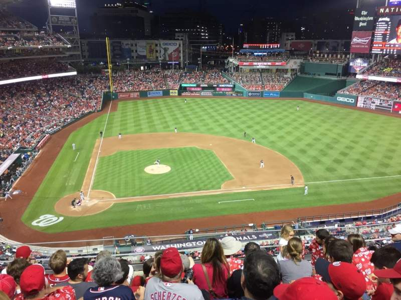 Seating view for Nationals Park Section 318 Row F Seat 16