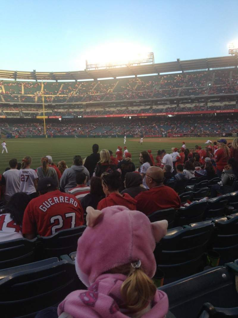 Seating view for Angel Stadium Section F103 Row K Seat 9
