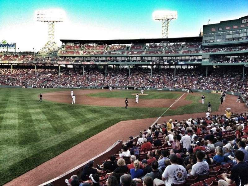 Seating view for Fenway Park Section Grandstand 32 Row MM Seat 5